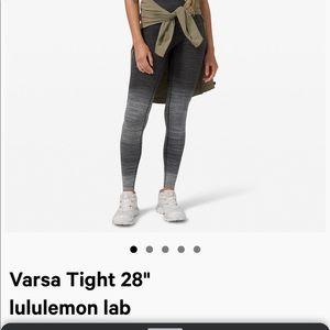"""Lululemon Varsa Tight Leggings 25"""" Black White sz4"""